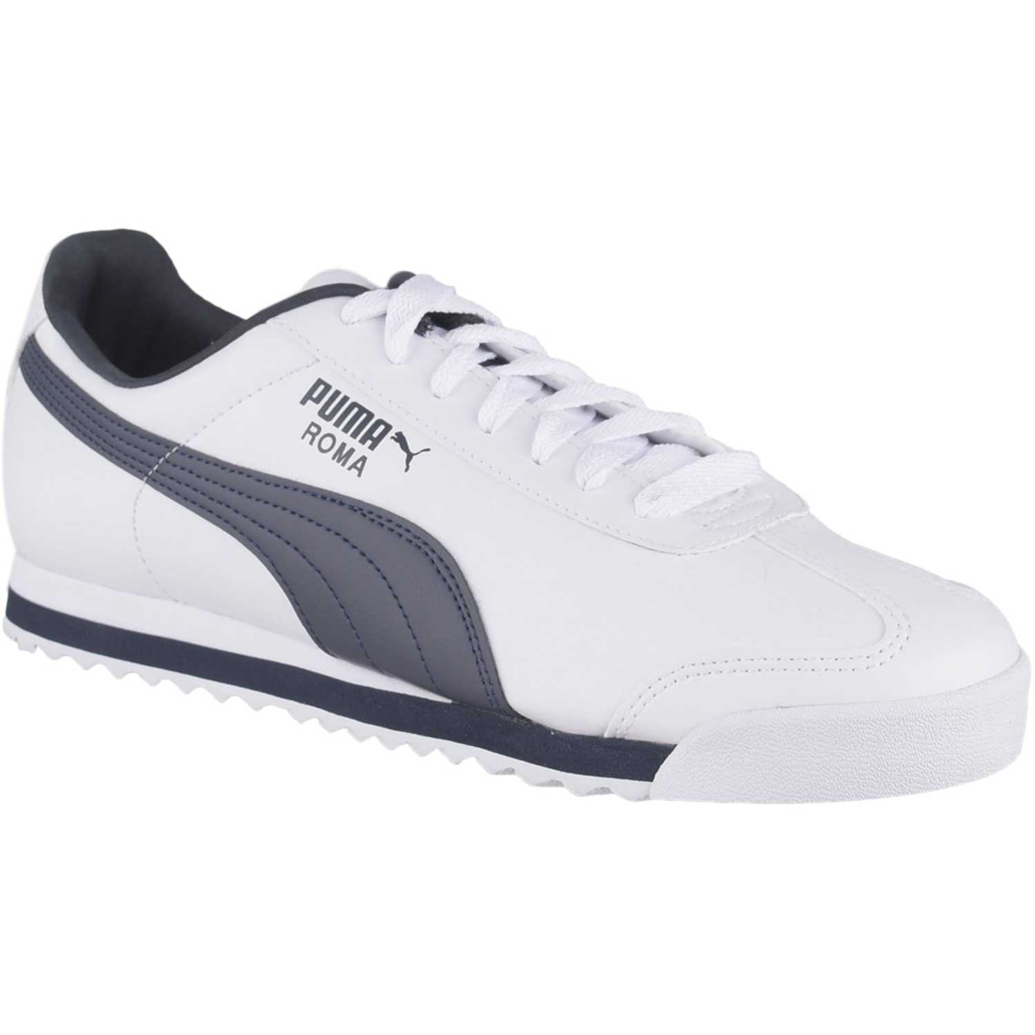 Puma roma basic Blanco / azul Walking