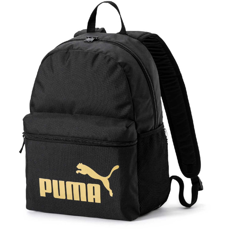 Puma puma phase backpack Negro / dorado Mochilas Multipropósitos
