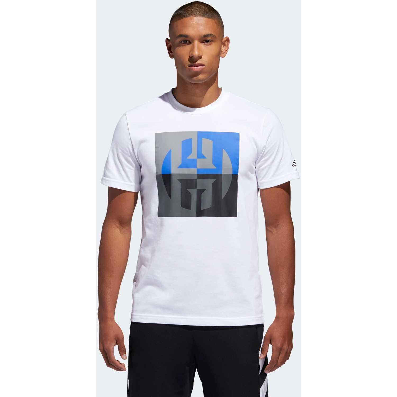 Adidas harden big logo Blanco Camisetas y Polos Deportivos