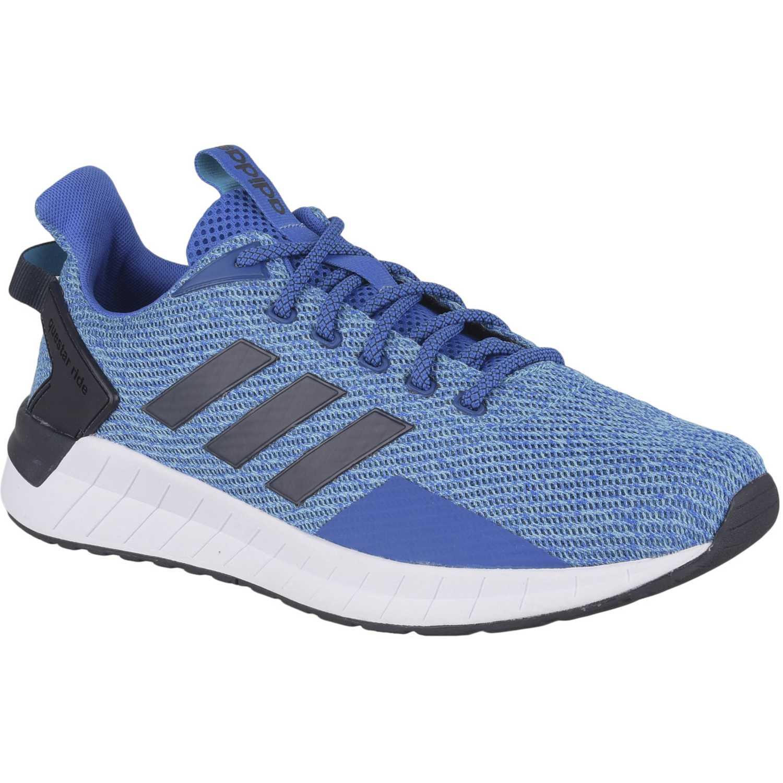Adidas questar ride Azulino Running en pista