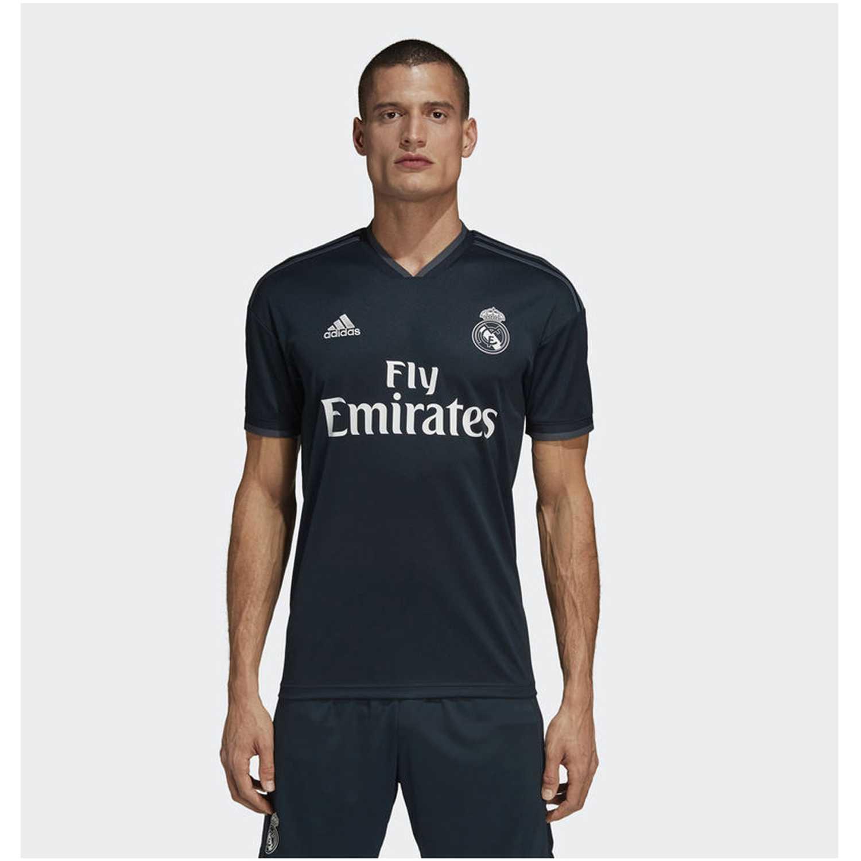 Adidas real a jsy Negro Camisetas y Polos Deportivos