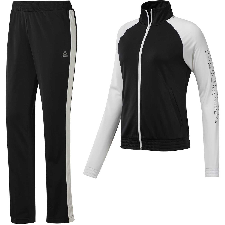 Reebok tets tricot Negro / blanco Sets Deportivos Tops y Bottoms