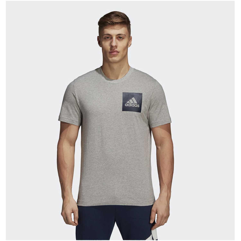 Adidas ess chestlogo t Gris Camisetas y Polos Deportivos