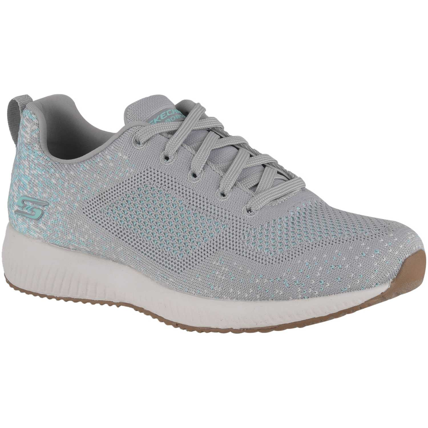 Skechers bobs squad - awesome sauce Gris / verde Walking
