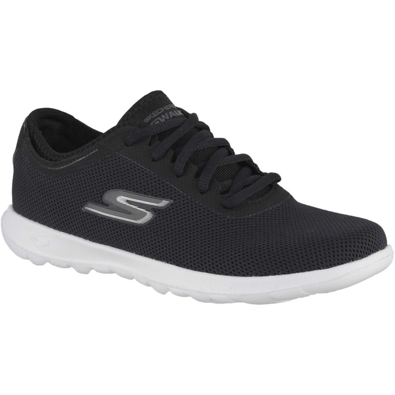 9475cd3d72d Zapatilla de Mujer Skechers Negro / blanco go walk lite   platanitos.com