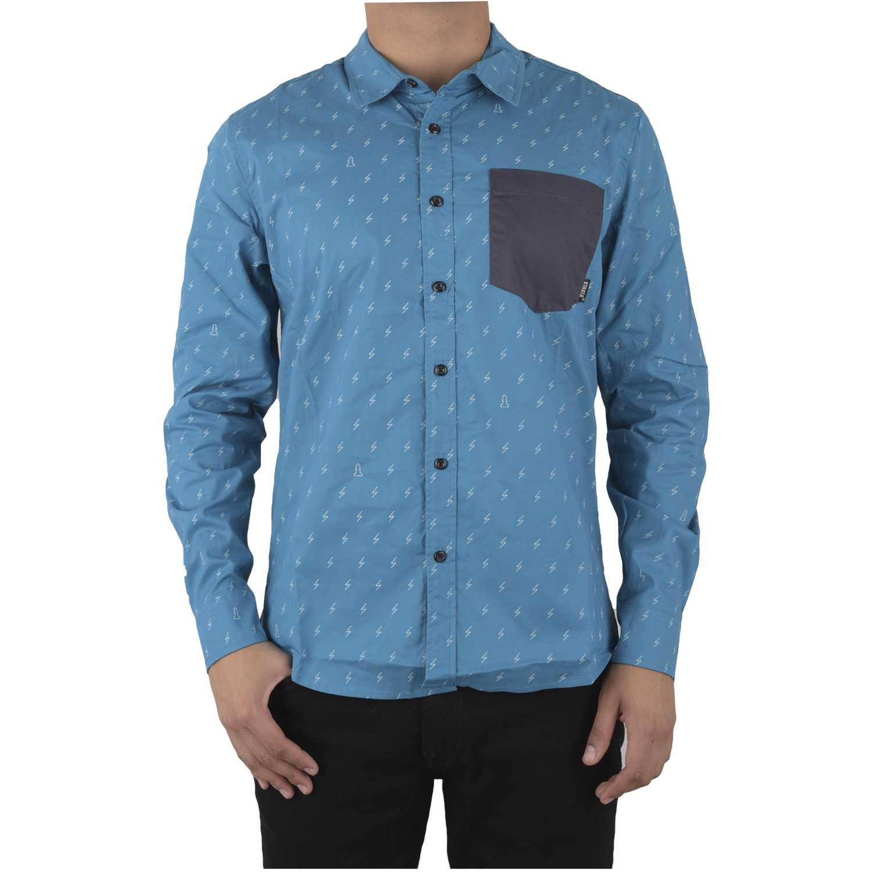 Strata SHIRT BOLTMANGA LARGA Turquesa Camisas de botones