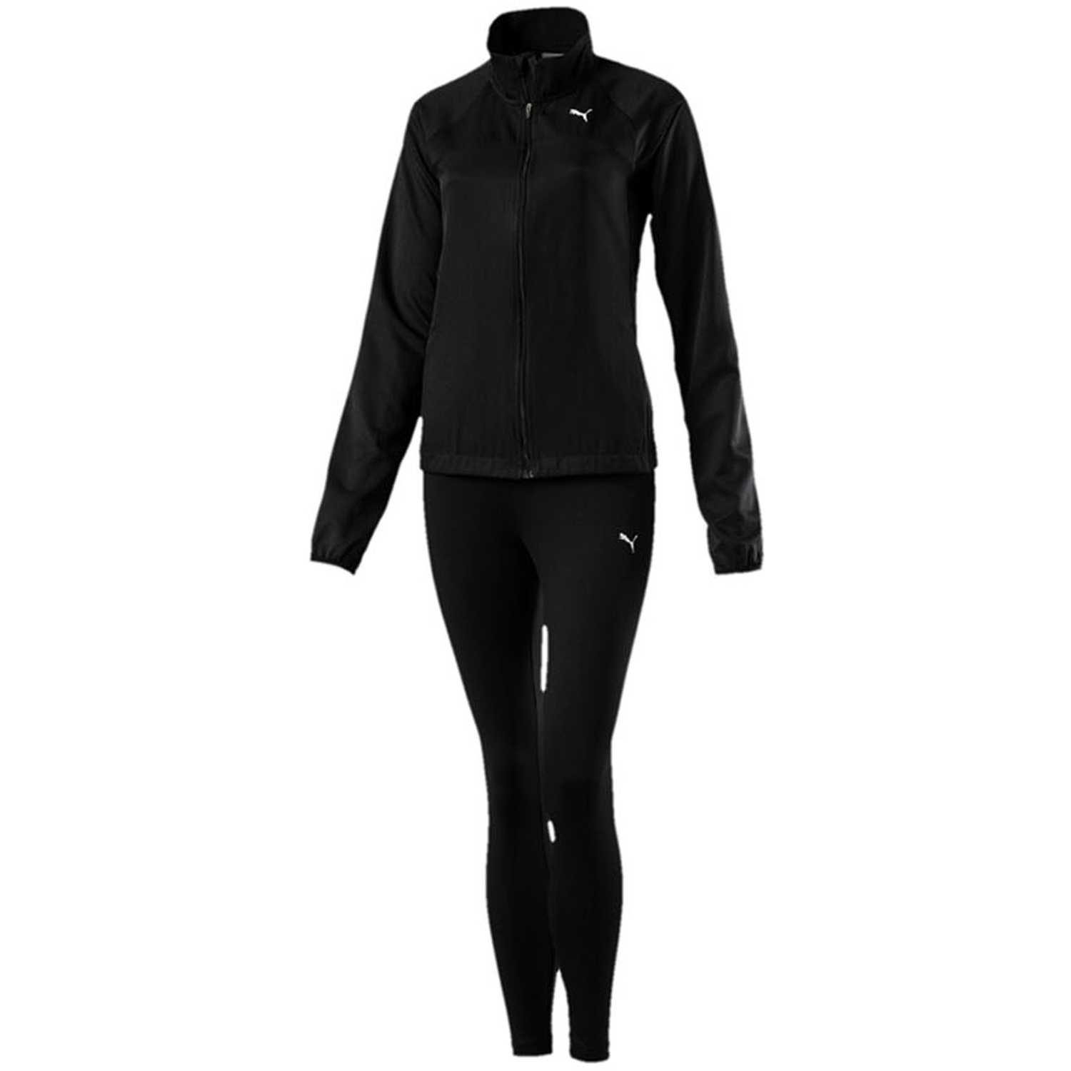 Puma active yogini woven suit Negro Sets Deportivos Tops y Bottoms