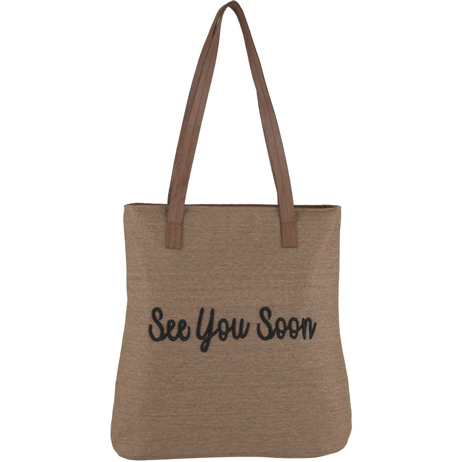 Cartera Casual de Mujer Platanitos Beige see you soon