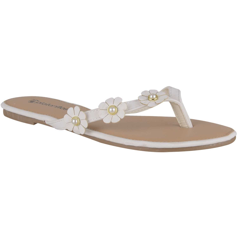 Flat de Mujer Platanitos Blanco sf 1193