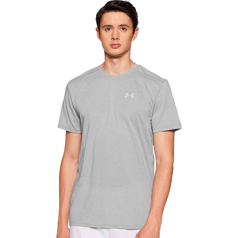 Under Armour threadborne streaker ss Gris Camisetas y Polos Deportivos