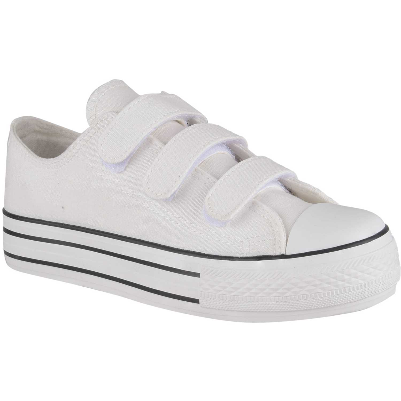 De Blanco Mujer Velcro Zapatillas Zc Just4u DI29WEH