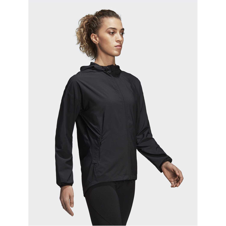Casacas de Mujer Adidas Negro woven cover up