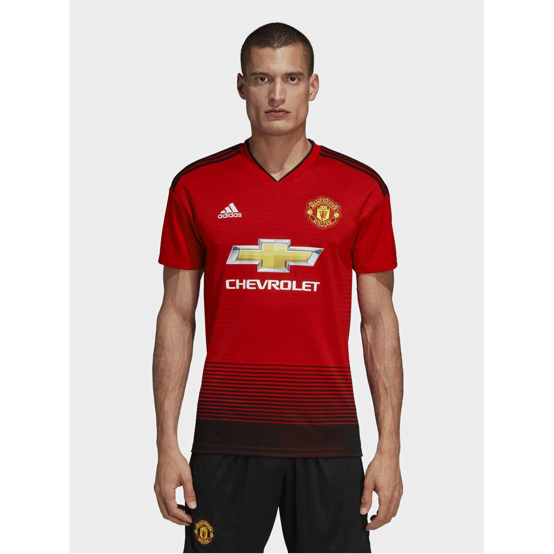 Adidas MUFC H JSY Rojo Camisetas y Polos Deportivos