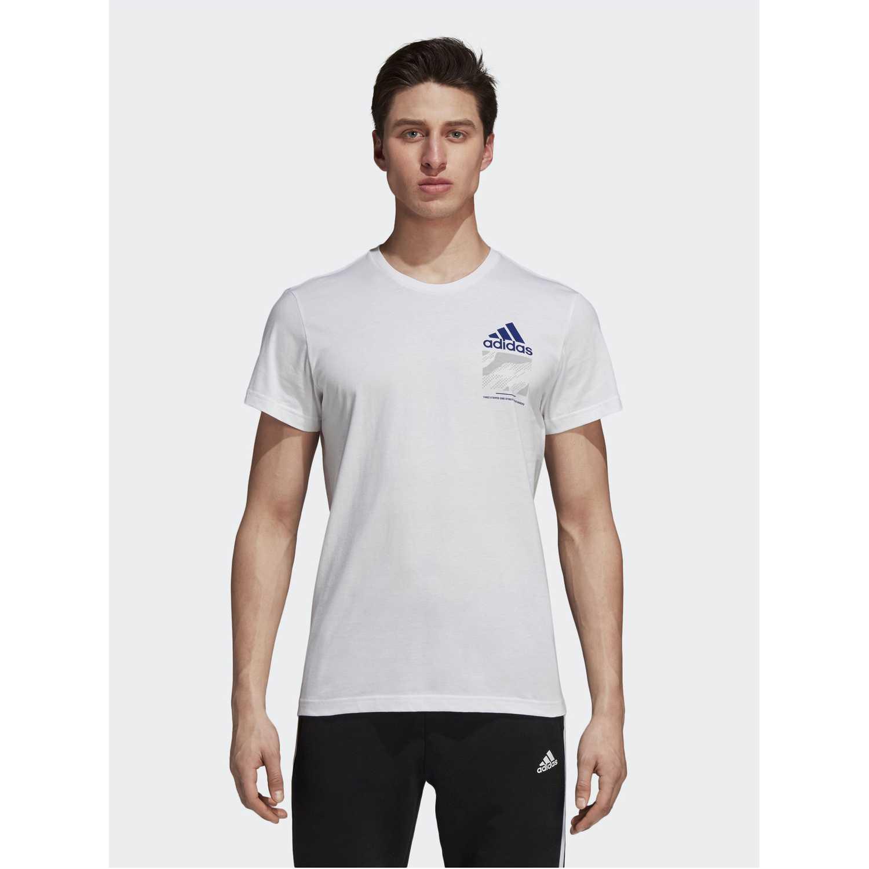 Adidas colourblock Blanco Camisetas y Polos Deportivos