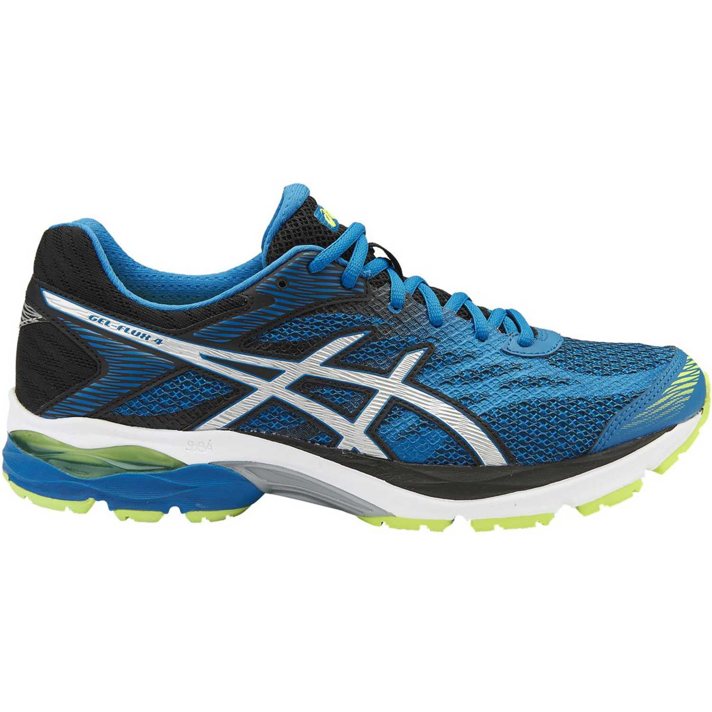 Asics gel flux 4 thndr blue slvr blk Azul / negro Trail Running