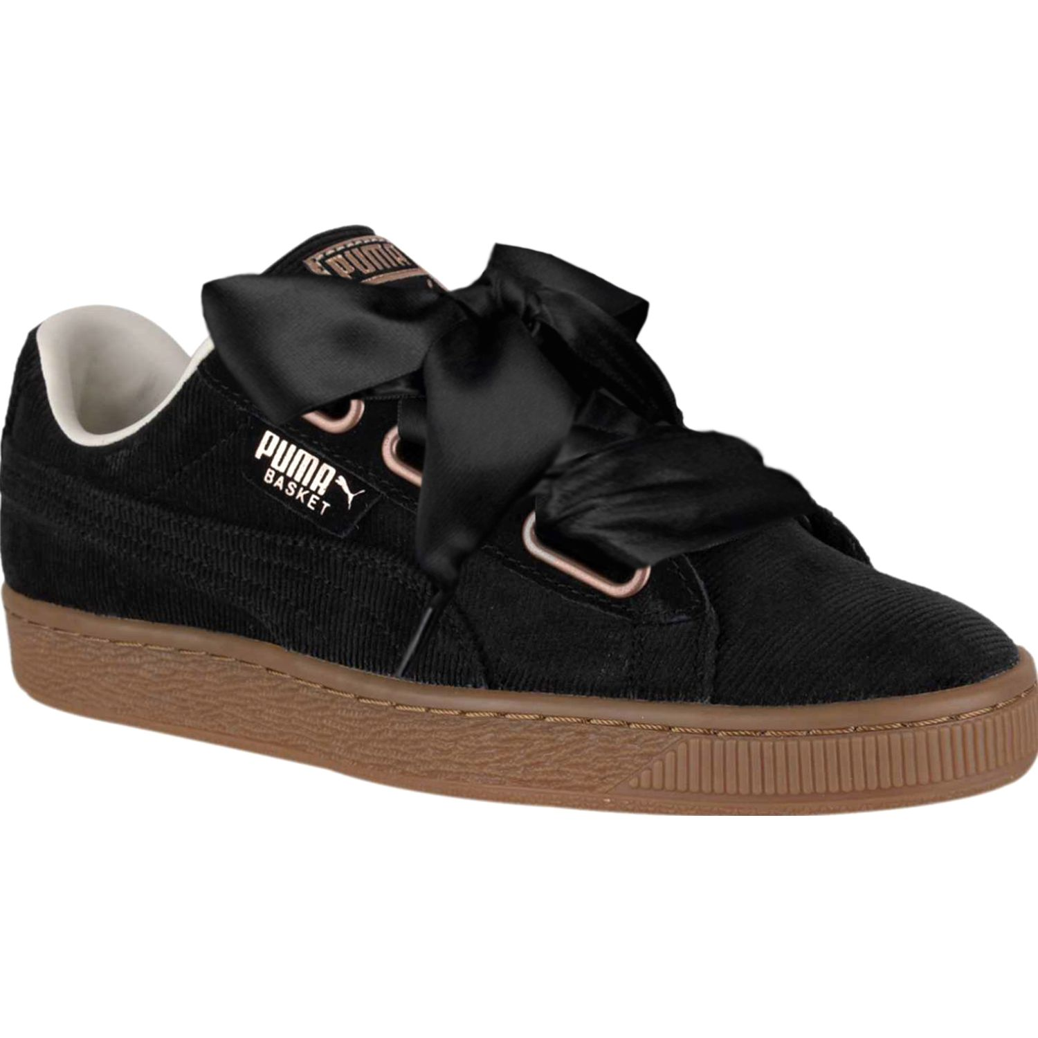 Puma Basket Heart Corduroy Wn's Negro Walking