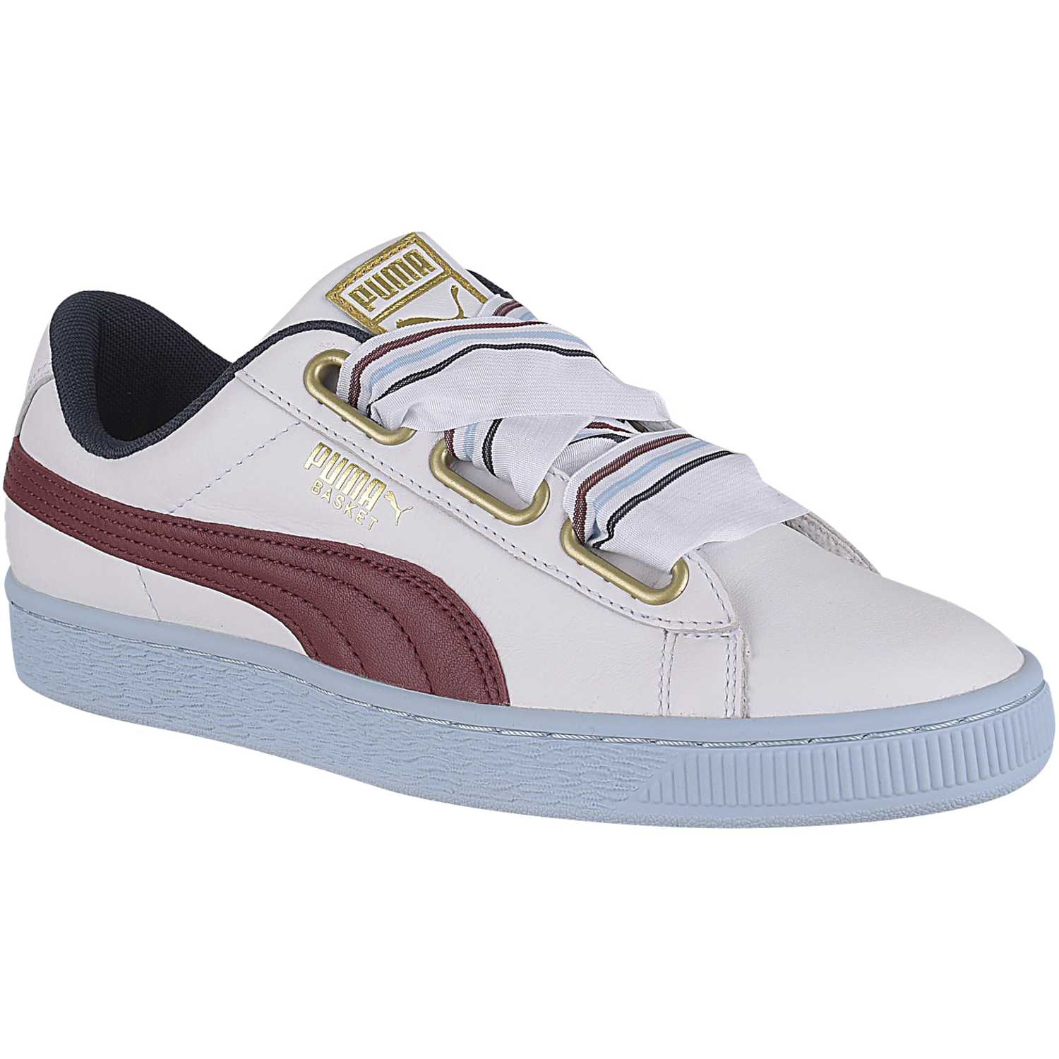 sports shoes f4566 f1b99 Cuña de Mujer Puma Blanco / celeste basket heart new school ...