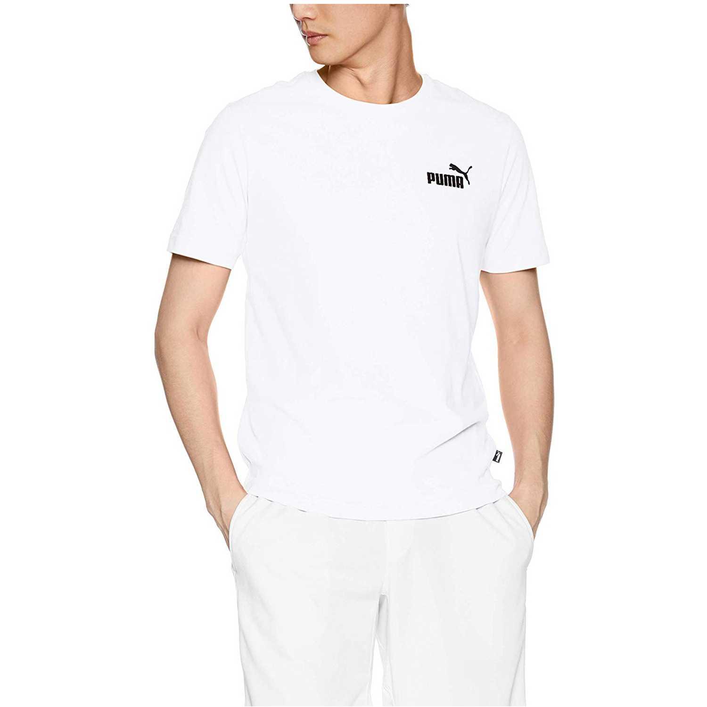 Puma ESS Small Logo Tee Blanco Camisetas y Polos Deportivos