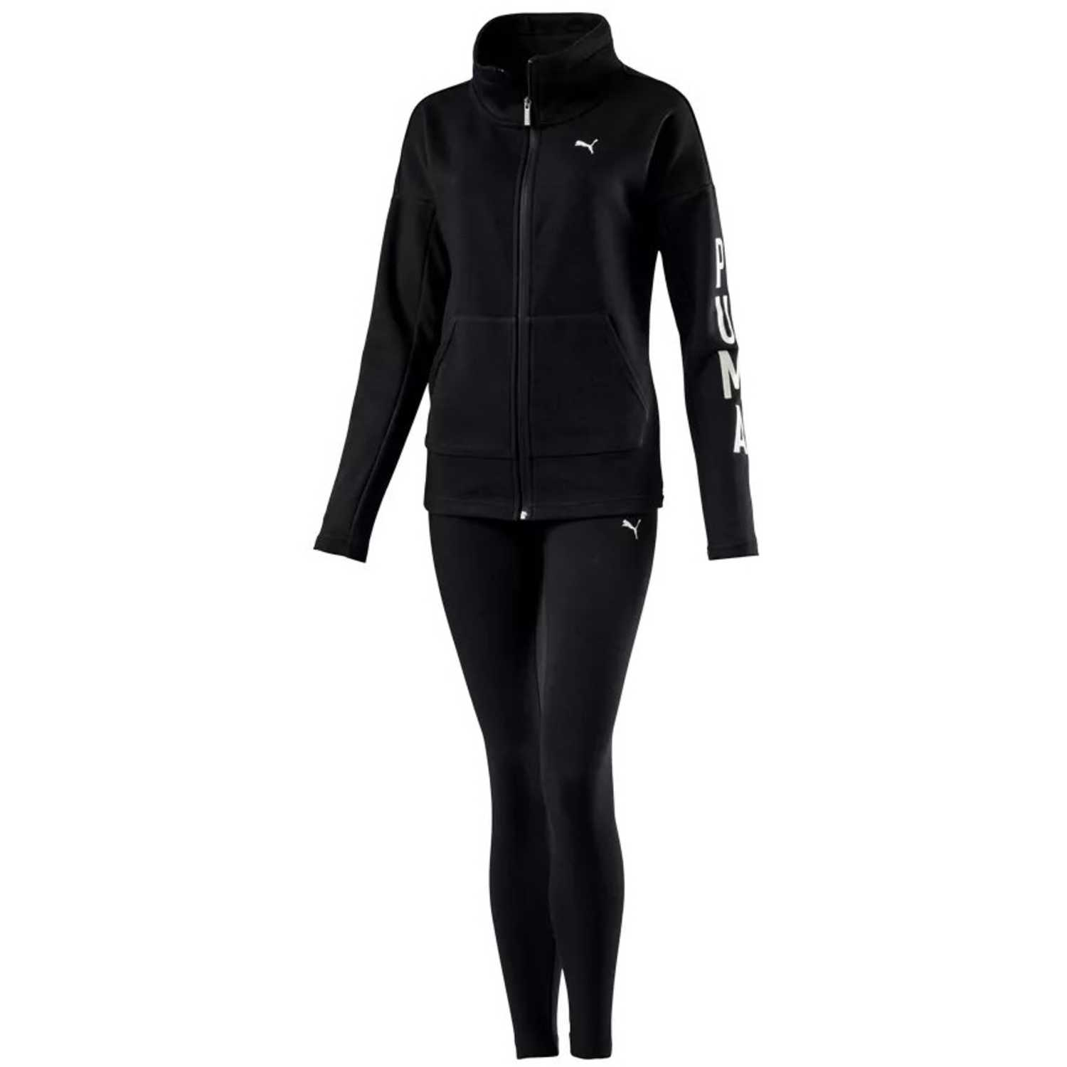 Puma graphic legging sweat suit Negro Sets Deportivos Tops y Bottoms