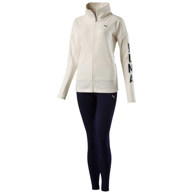 Buzos de Mujer Puma Beige / azul graphic legging sweat suit