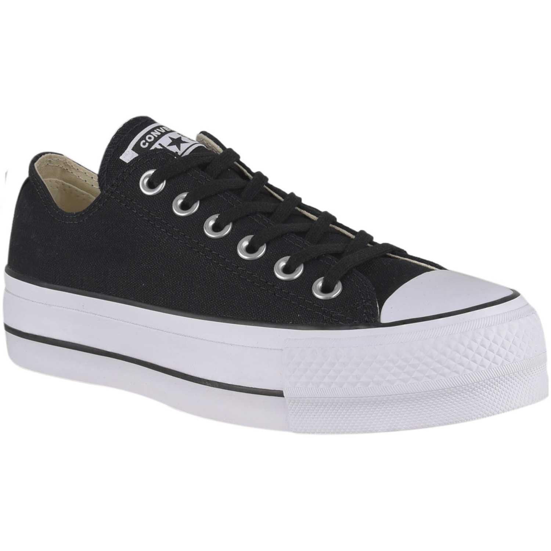 Converse ctas platform ox Negro Walking
