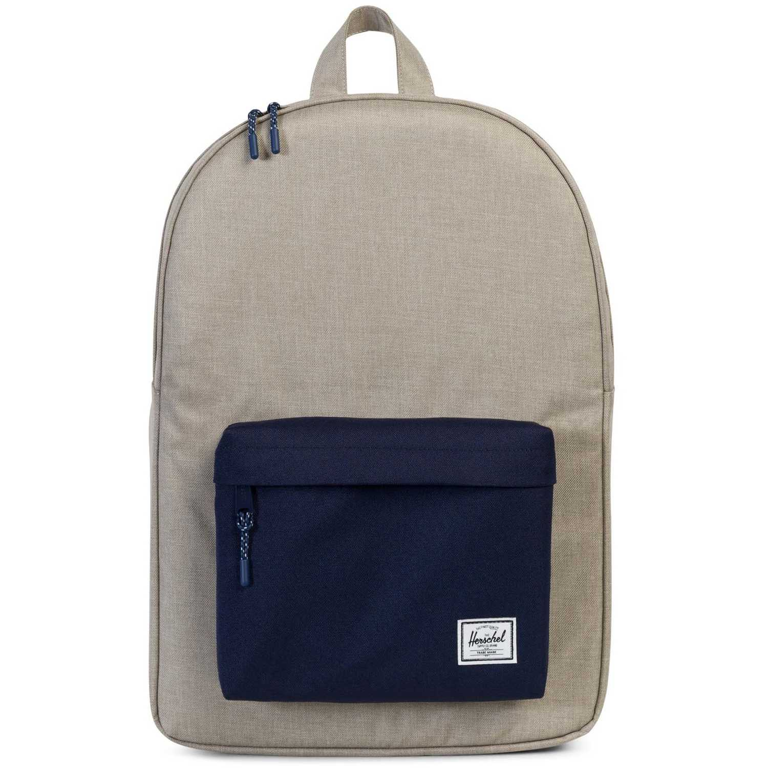 HERSCHEL classic light khaki bp Blanco / azul Mochilas Multipropósitos