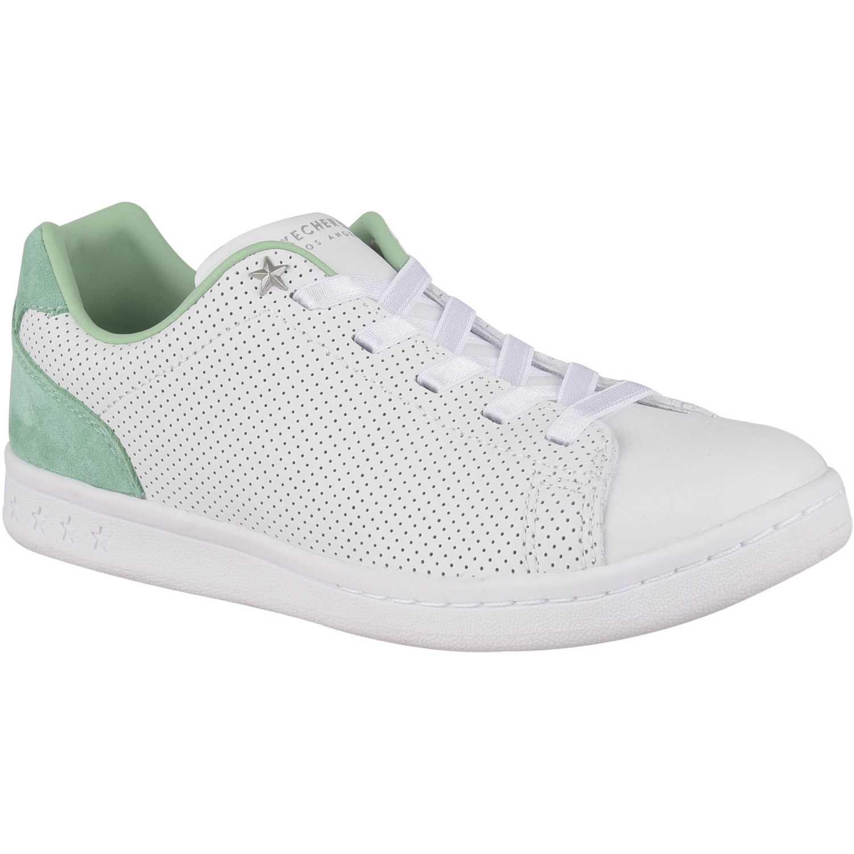 Zapatilla de Mujer Skechers Blanco / verde darma