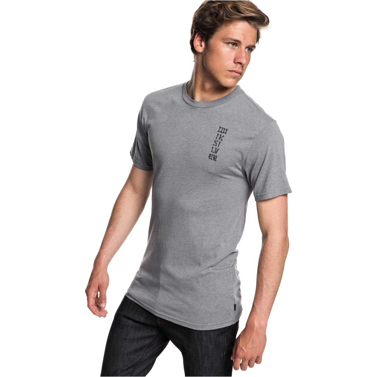 Quiksilver reflections mgz Gris / negro Polos