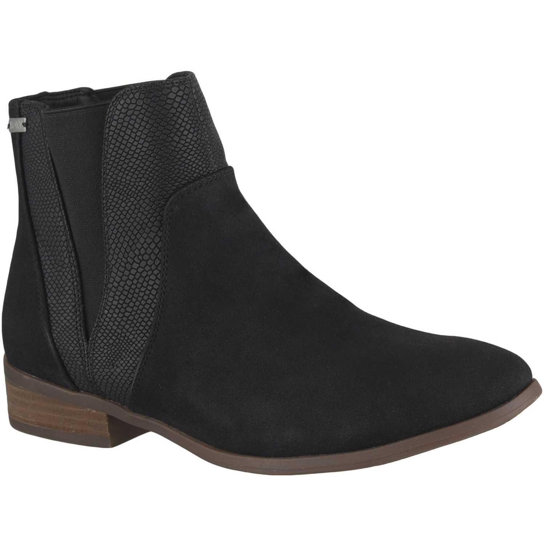 Botínes de Mujer Roxy Negro linn mid-heel boots