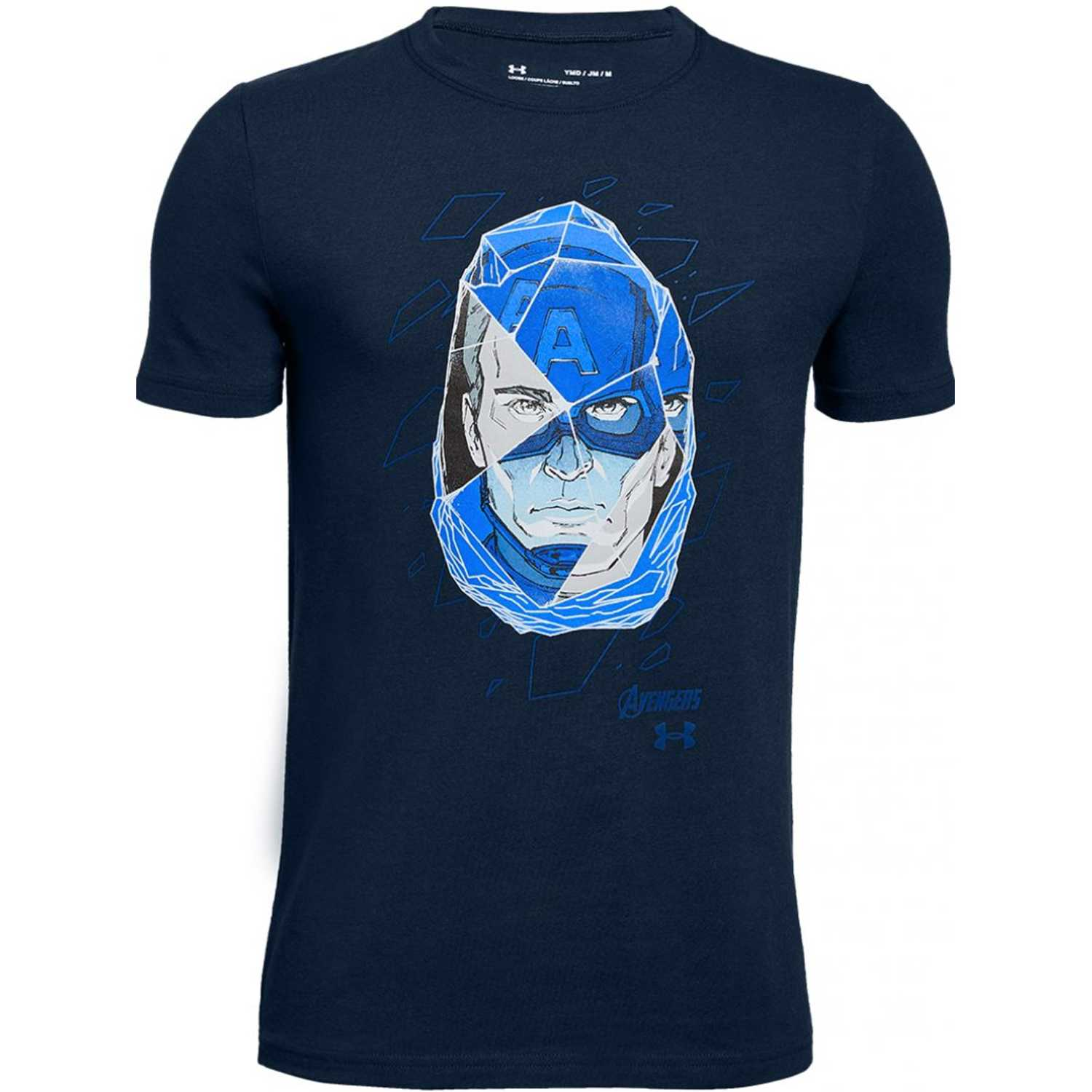 Under Armour captain america duo ss t Azul Camisetas y Polos Deportivos
