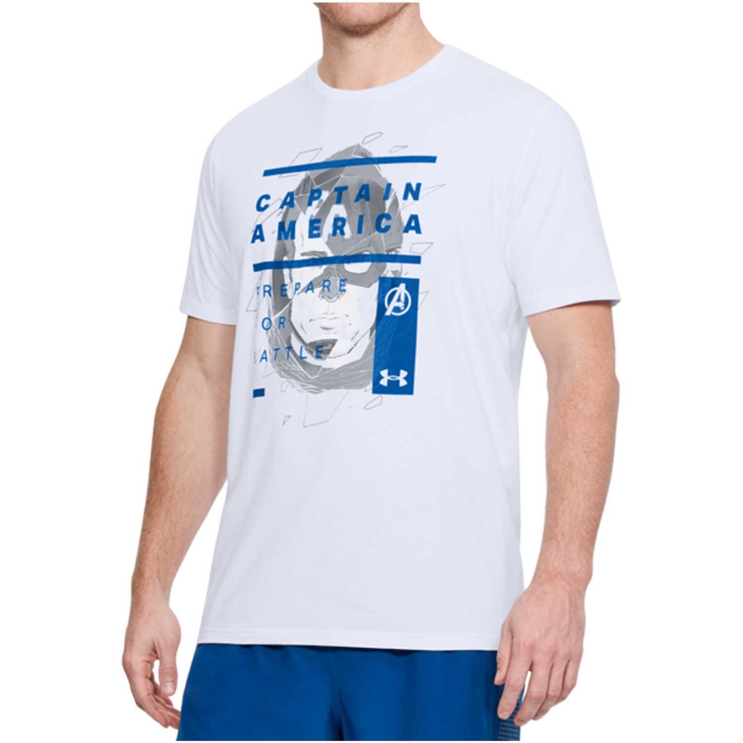 Polo de Hombre Under Armour Blanco captain america overlay tee