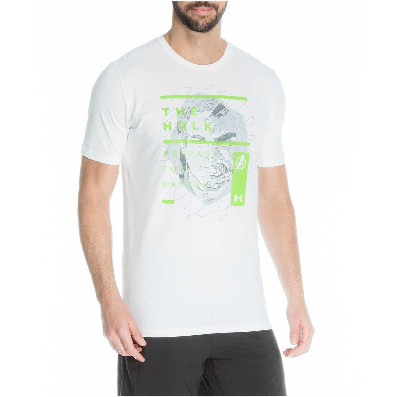 Under Armour hulk overlay tee Blanco Camisetas y Polos Deportivos