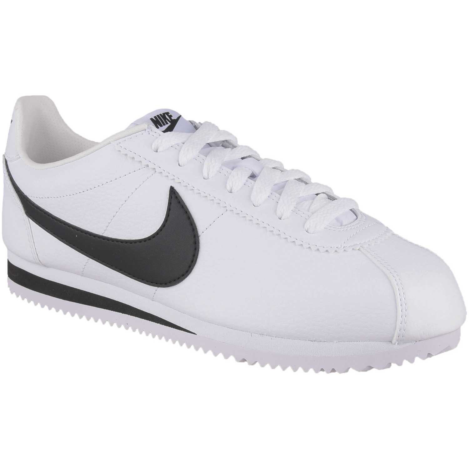Nike classic cortez leather Blanco / negro Walking ...