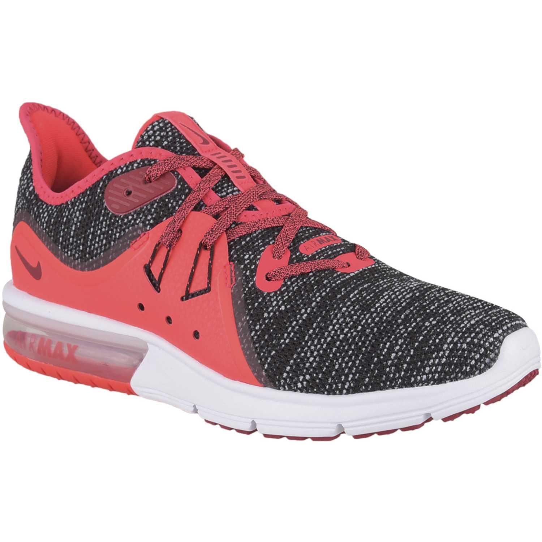 Nike WMNS NIKE AIR MAX SEQUENT 3 Plomo / rojo Running en pista
