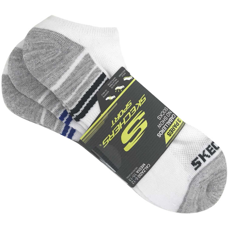Skechers med-162-s108617-109 Blanco / gris Calcetines