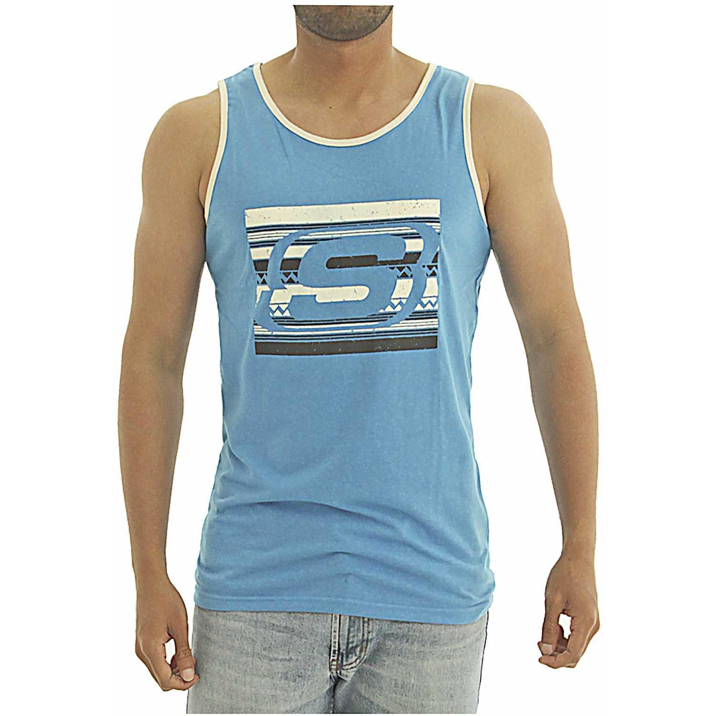 Skechers bividi-163-33004dd Azul Camisetas y Polos Deportivos