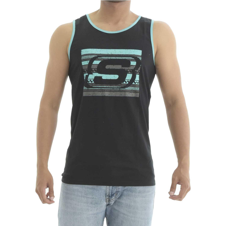 Skechers bividi-163-33004dd Negro Camisetas y Polos Deportivos