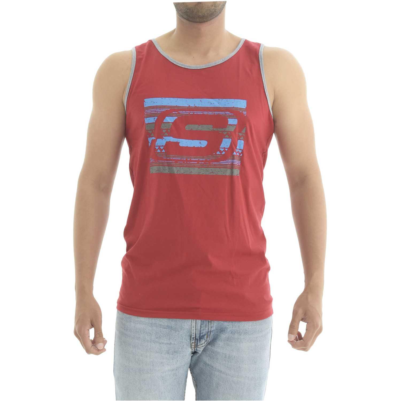 Skechers bividi-163-33004dd Rojo Camisetas y Polos Deportivos
