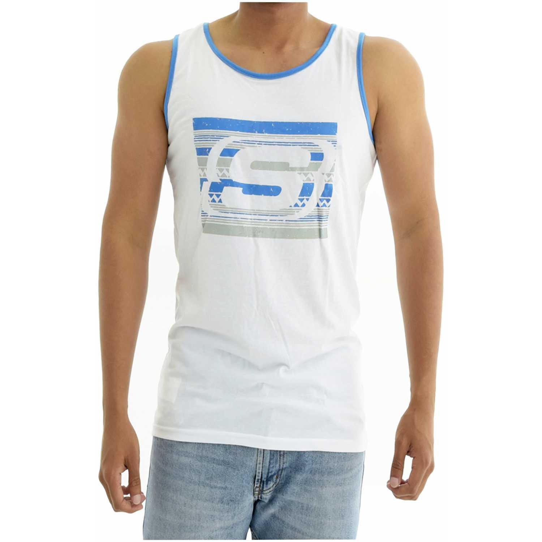 Skechers bividi-163-33004dd Blanco Camisetas y Polos Deportivos