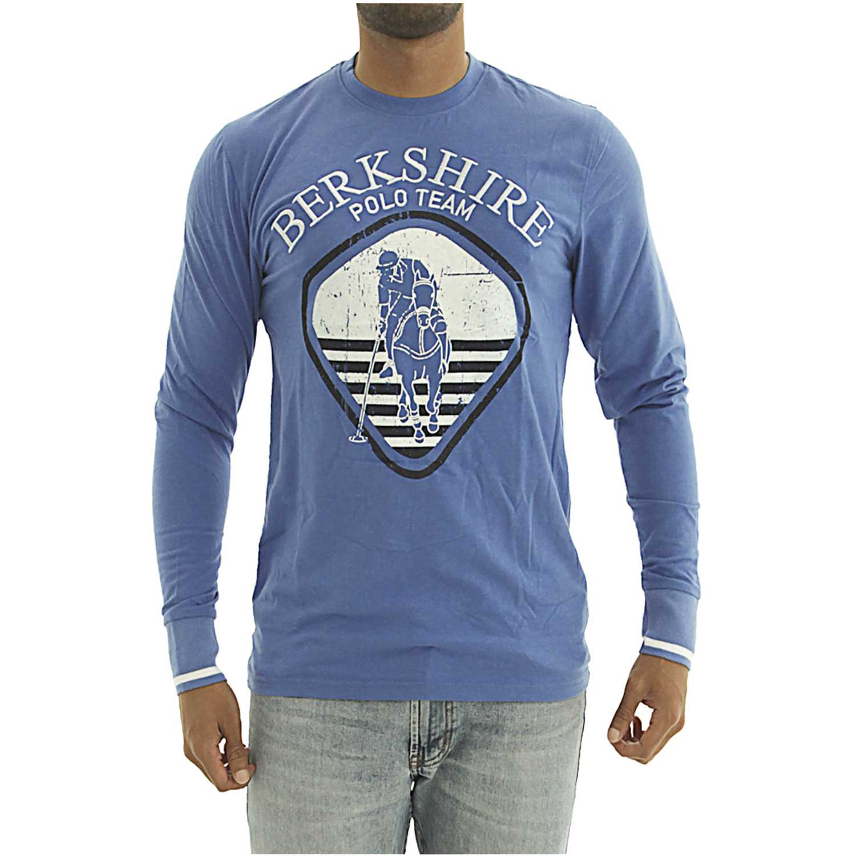 BERKSHIRE POLO CLUB polera-159-007407 Azul Hoodies y Sweaters Fashion