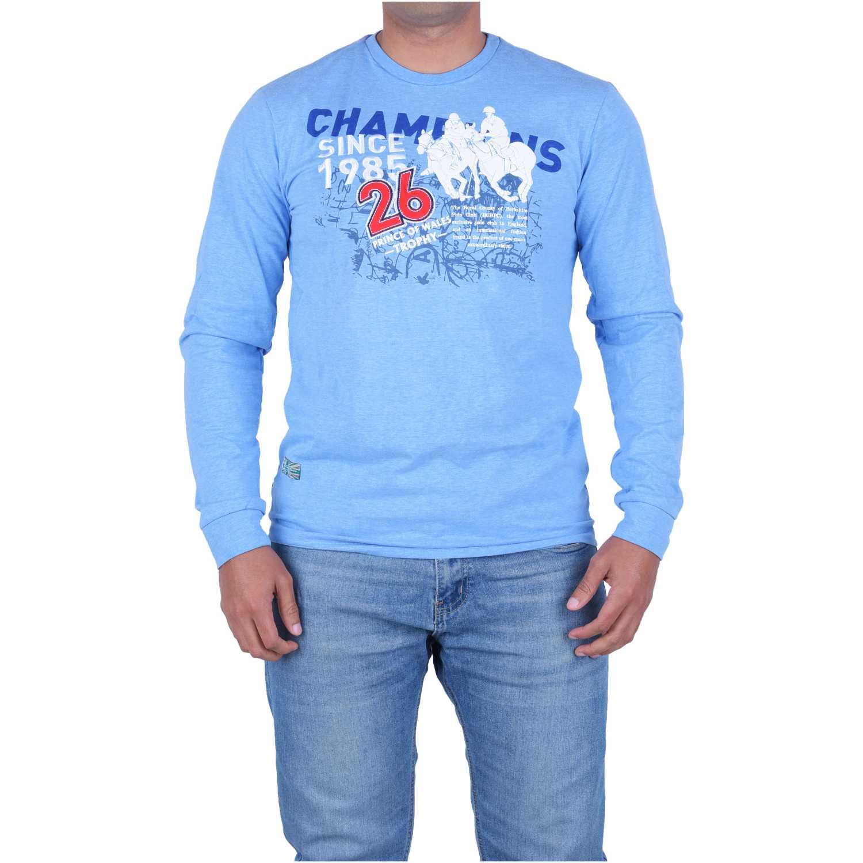 BERKSHIRE POLO CLUB polera-159-1532568 Azul Hoodies y Sweaters Fashion