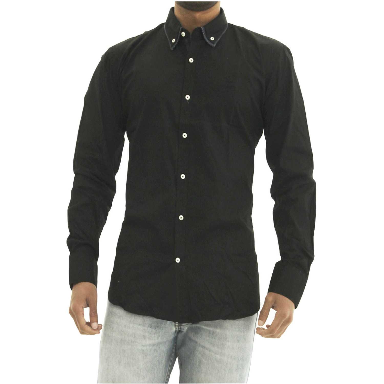 BERKSHIRE POLO CLUB camisa-159-1335661 Negro Camisas de botones
