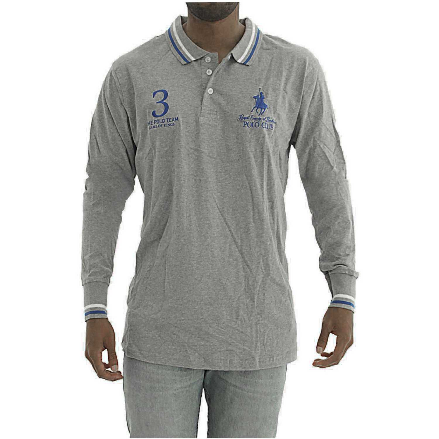BERKSHIRE POLO CLUB polera-159-1536187 Gris Hoodies y Sweaters Fashion