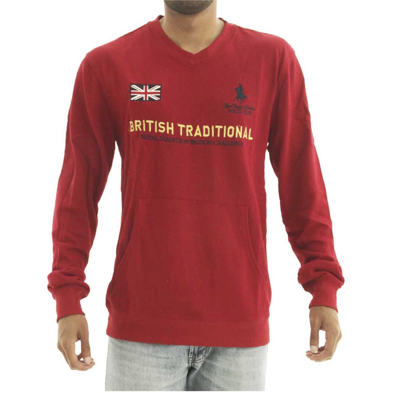 BERKSHIRE POLO CLUB polera-159-1535708 Rojo Hoodies y Sweaters Fashion