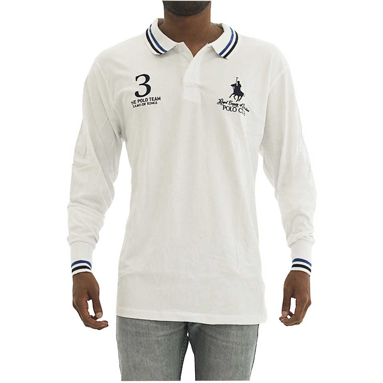 Casual de Hombre BERKSHIRE POLO CLUB Blanco polera-159-1536187