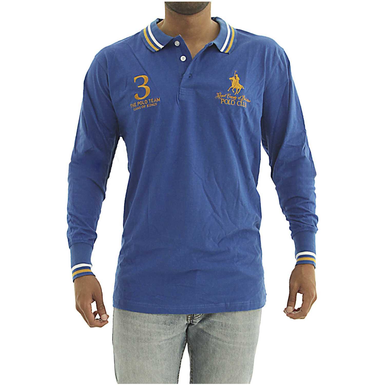 Casual de Hombre BERKSHIRE POLO CLUB Azul polera-159-1536187