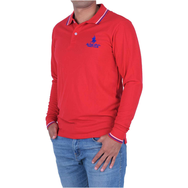 BERKSHIRE POLO CLUB polera-159-70378 Rojo Hoodies y Sweaters Fashion