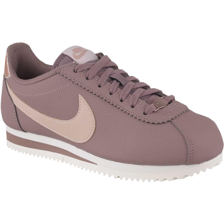 Nike wmns classic cortez leather Lila / blanco Walking