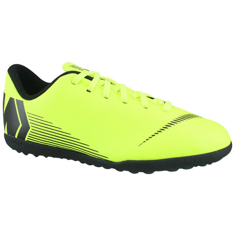 Nike jr vaporx 12 club gs tf Verde / negro Muchachos