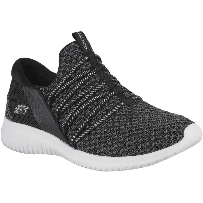 Skechers ultra flex Negro / blanco Walking